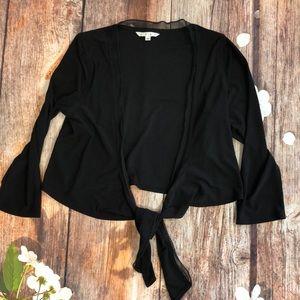 CAbi Style 316 Black Cropped Cardigan